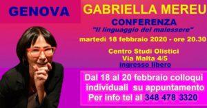 Genova: conferenza e colloqui