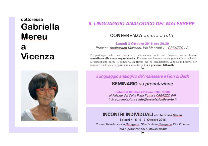 Conferenza a Vicenza @ Creazzo | Veneto | Italia