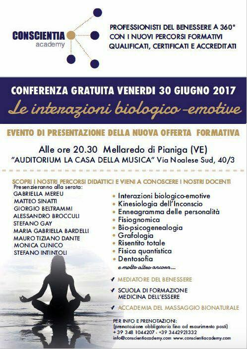 Conferenza gratuita a Pianiga (VE)