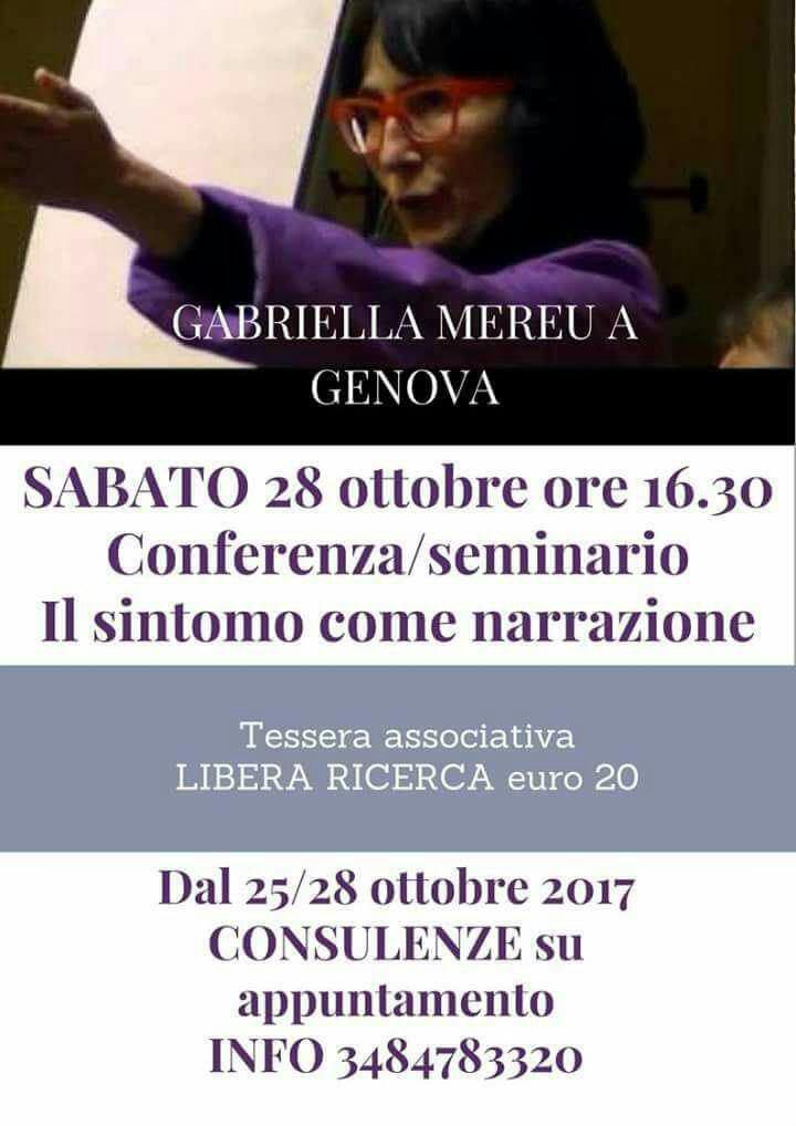 Conferenza/seminario a Genova