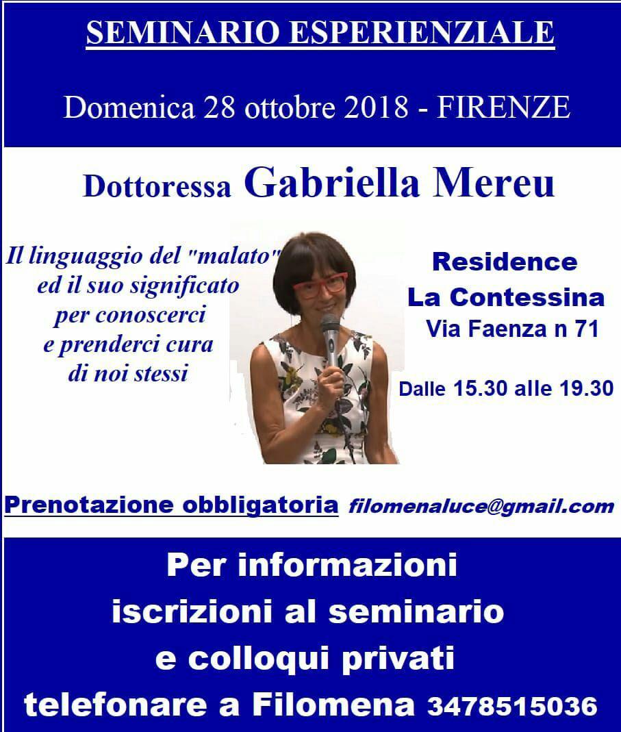 Firenze: seminario e colloqui privati