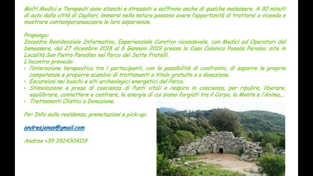 Sardegna: incontro tra terapeuti