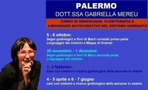 Palermo: scuola di grafologia, floriterapia e linguaggio autocurativo del sintomo narrante