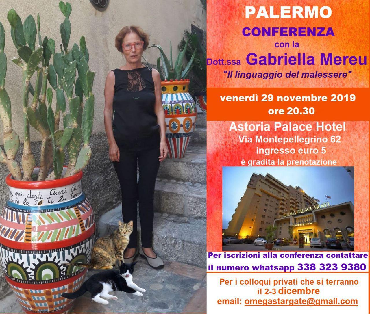 Palermo: conferenza e colloqui (ORARIO CAMBIATO)