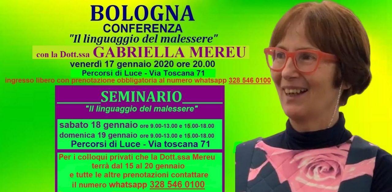 Bologna: conferenza e seminario