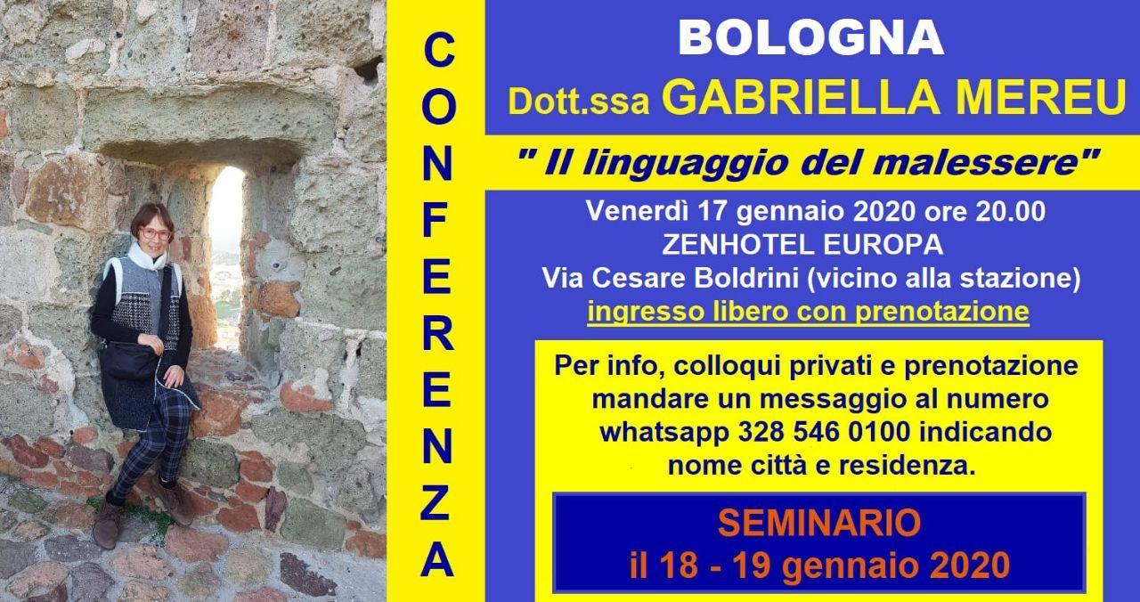 Bologna: conferenza, seminario e colloqui